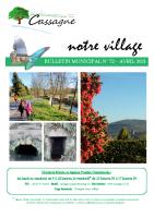 Bulletin Municipal N°72-Avril 2021